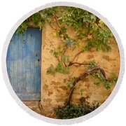 Round Beach Towel featuring the photograph Provence Door 5 by Lainie Wrightson