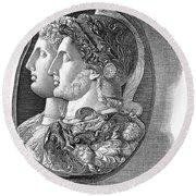 Ptolemy II (309-246 B.c.) Round Beach Towel