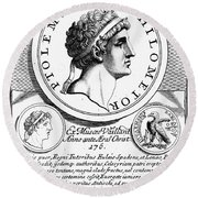 Ptolemy Vi (d. 145 B.c.) Round Beach Towel