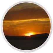 Round Beach Towel featuring the photograph Puerto Vallarta Sunset by Marilyn Wilson