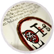 Round Beach Towel featuring the photograph Pure Buer by Vicki Ferrari