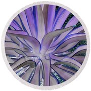 Purple Aloe Round Beach Towel