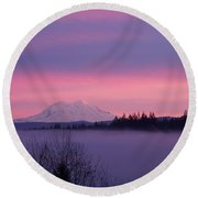 Round Beach Towel featuring the photograph Purple Mountain Majesty by Chalet Roome-Rigdon