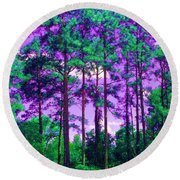 Round Beach Towel featuring the photograph Purple Sky by George Pedro