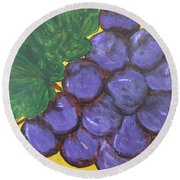 Purplest Purple Round Beach Towel