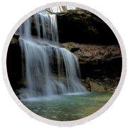 Quakertown Falls Round Beach Towel