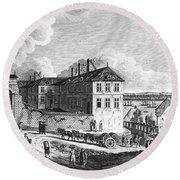 Quebec: Ruins, 1761 Round Beach Towel