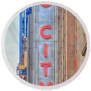 Radio City Music Hall Round Beach Towel