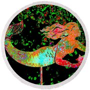 Rainbow Mermaid Round Beach Towel