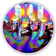 Rainbow Room Round Beach Towel