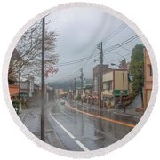 Rainy Day Nikko Round Beach Towel