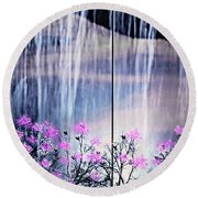 Rainy Nights In Georgia Round Beach Towel by Sherri's Of Palm Springs
