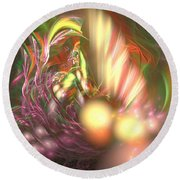 Ready To Pick Up - Abstract Art Round Beach Towel
