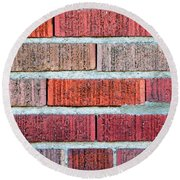 Red Brick Wall Round Beach Towel