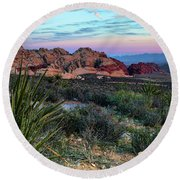 Red Rock Sunset II Round Beach Towel