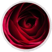 Round Beach Towel featuring the photograph Red Rose by Matt Malloy