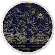 Reflections Of An Arboretum Round Beach Towel