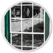 Reflections Of The Past Round Beach Towel