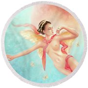 Rhapsody Round Beach Towel