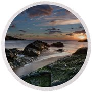 Rhosneigr Sunset  Round Beach Towel