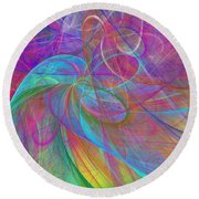 Ribbons Of The Rainbow Round Beach Towel