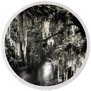 Round Beach Towel featuring the photograph River Branch by Steven Sparks