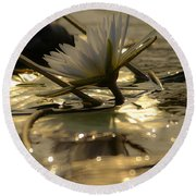 River Lily Round Beach Towel