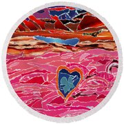River Of Passion Round Beach Towel