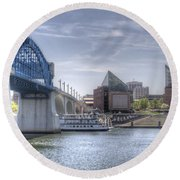 Riverfront Round Beach Towel