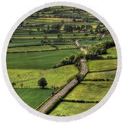 Road Of Thousand Dreams Round Beach Towel
