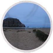Rock And Dunes Round Beach Towel