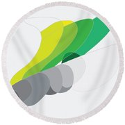 Rock And Lichen Round Beach Towel by Kevin McLaughlin