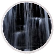 Rock Glen Water Falls Round Beach Towel
