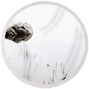 Rock In The Water Round Beach Towel