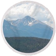 Rocky Mountain High Round Beach Towel by Randy J Heath