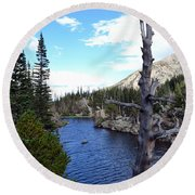 Rocky Mountain National Park1 Round Beach Towel by Zawhaus Photography