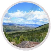 Rocky Mountain National Park2 Round Beach Towel by Zawhaus Photography