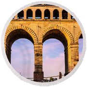 Roman Arches Round Beach Towel