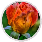 Round Beach Towel featuring the painting Rose by Lynne Jenkins