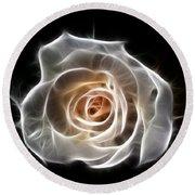 Rose Of Light Round Beach Towel