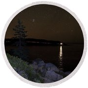 Rounding Otter Point Round Beach Towel by Brent L Ander