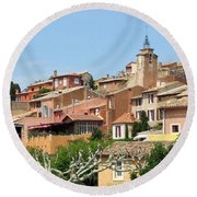 Round Beach Towel featuring the photograph Roussillon In Provence by Carla Parris