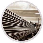 Royal Gorge Bridge Round Beach Towel