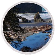 Round Beach Towel featuring the photograph Ruby Beach IIi by Jeanette C Landstrom