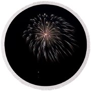 Round Beach Towel featuring the photograph Rvr Fireworks 10 by Mark Dodd