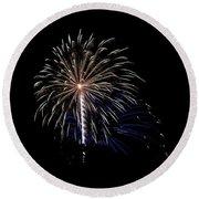 Rvr Fireworks 115 Round Beach Towel