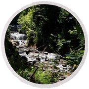 Sable Falls Grand Marais Mi Round Beach Towel