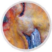 Round Beach Towel featuring the digital art Sacred by Richard Laeton