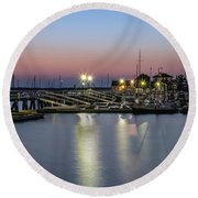 Round Beach Towel featuring the photograph Safe Harbor by Robin-Lee Vieira