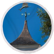 Sailfish Weather Vane At Palm Beach Shores Round Beach Towel